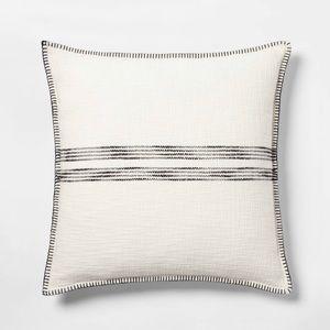Threshold Oversized Cream/Black StripeWoven Pillow